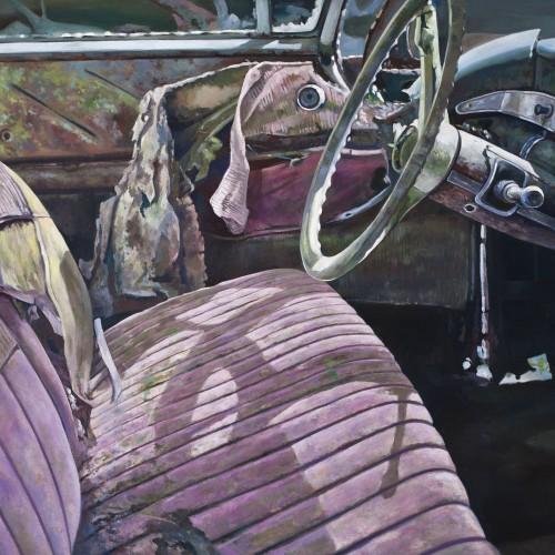 Autowrak Alexander van Noort Schilderij Olieverf