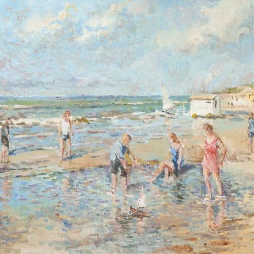 Strandgezicht Alexander van Noort Schilderij Olieverf